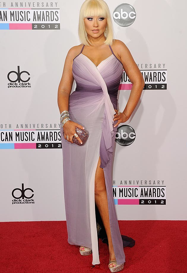 Christina Aguilera Pamela Rowland AMAs Dress