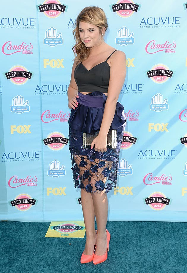 Ashley Benson 2013 Teen Choice Awards Armani Rachel Roy