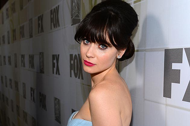 Zooey Deschanel Heavy Bangs