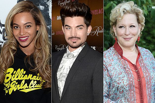 Beyonce Adam Lambert Bette Midler