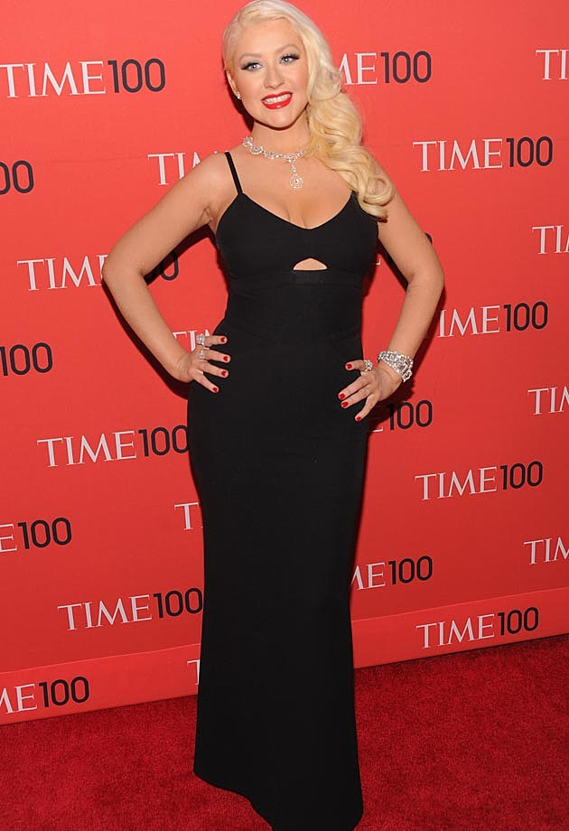 Christina Aguilera Black Victoria Beckham