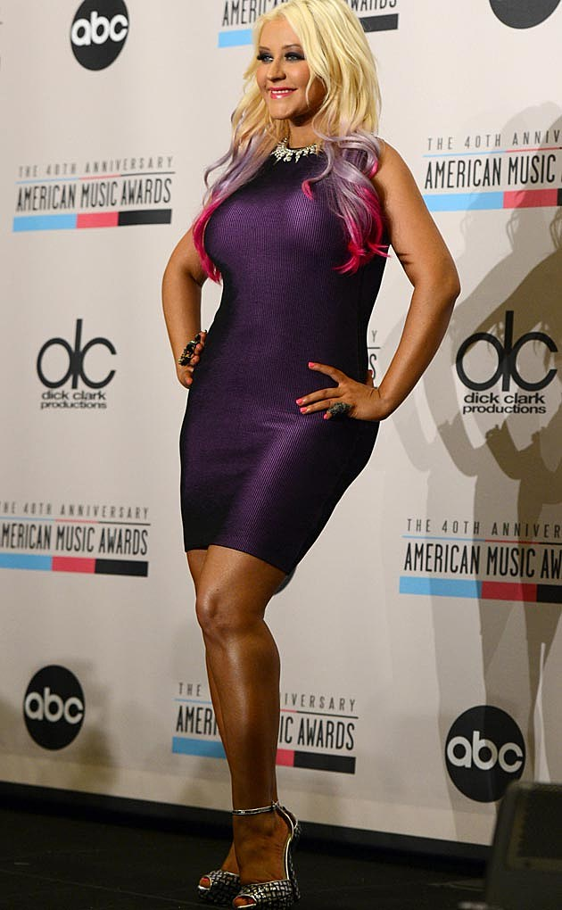 Christina Aguilera Purple Too Tight