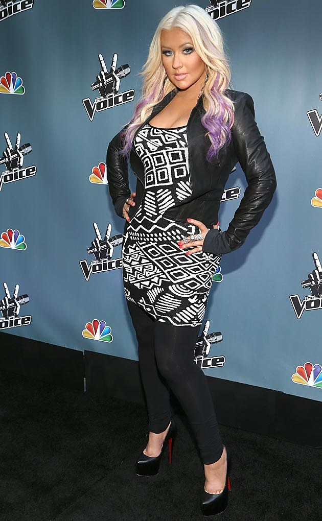 Christina Aguilera Leather + Leggings