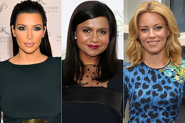 Kim Kardashian Mindy Kaling Elizabeth Banks