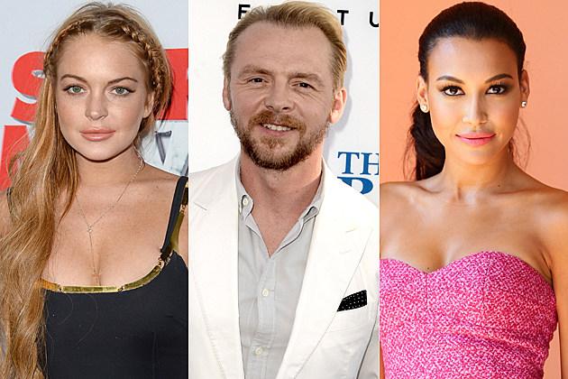 Lindsay Lohan Simon Pegg Naya Rivera