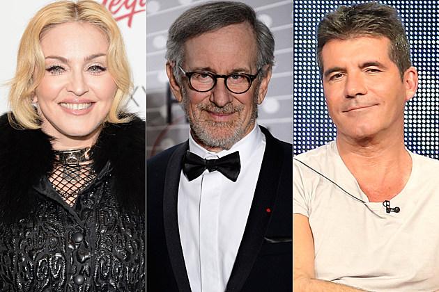 Madonna Steven Spielberg Simon Cowell