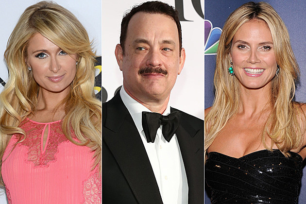 Paris Hilton Tom Hanks Heidi Klum