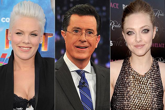 Pink Stephen Colbert Amanda Seyfried