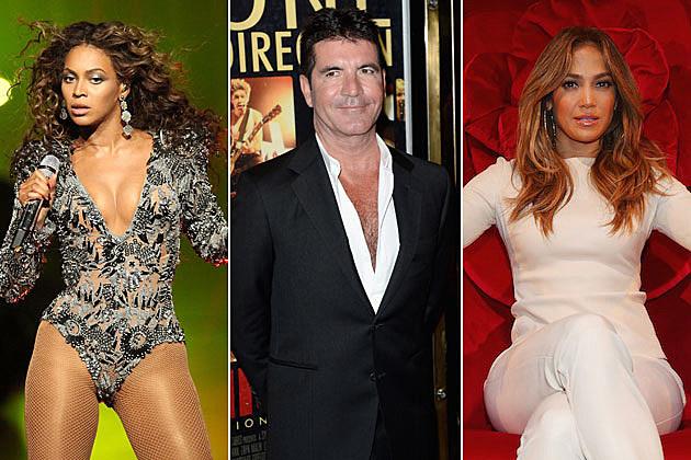 Beyonce Simon Cowell Jennifer Lopez