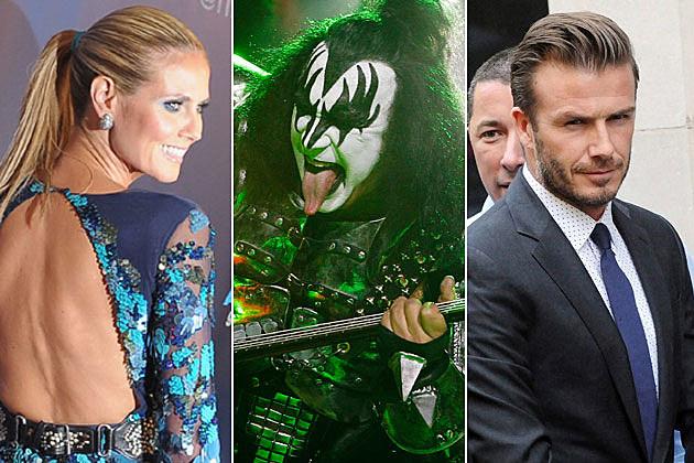 Heidi Klum Gene Simmons David Beckham