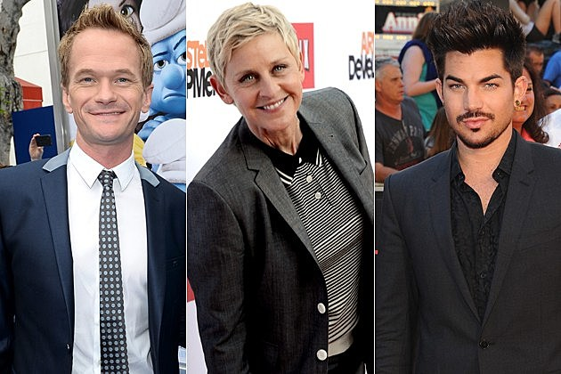 Neil Patrick Harris Ellen Degeneres Adam Lambert