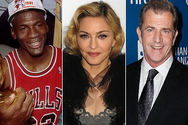 Michael Jordan Madonna Mel Gibson