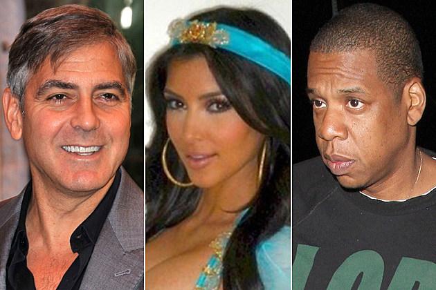 George Clooney Kim Kardashian Jay-Z