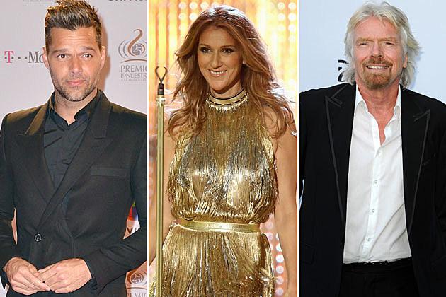 Ricky Martin Celene Dion Richard Branson