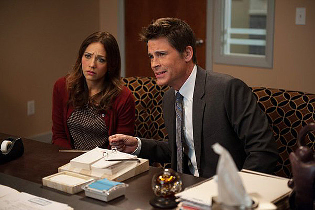 Rob Lowe and Rashida Jones on Parks and Recreation