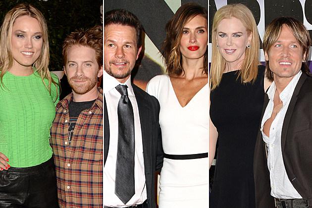 Seth Green + Clare Grant, Mark Wahlberg + Rhea Durham, Keith Urban + Nicole Kidman