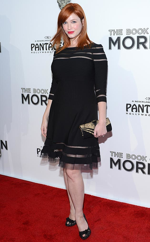 Christina Hendricks Black Dress