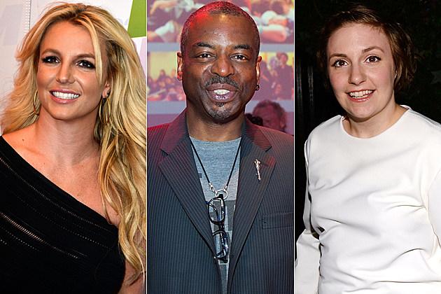 Britney Spears Levar Burton Lena Dunham
