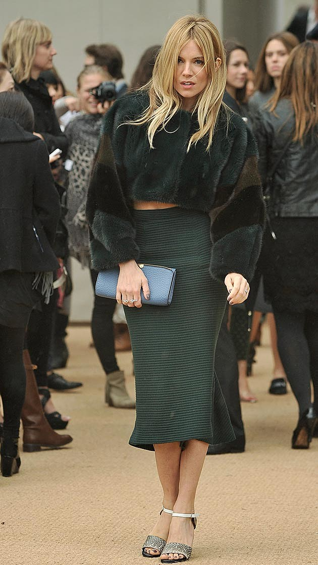 Sienna Miller Burberry Midi Dress
