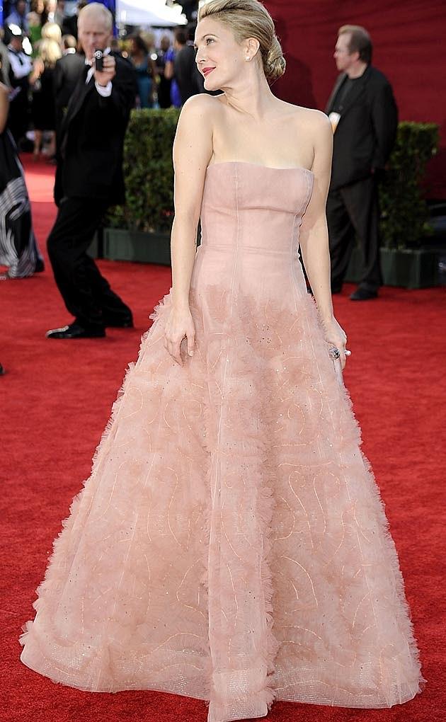 Drew Barrymore 2009 Emmys Monique Lhuillier