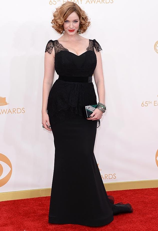 Christina Hendricks 2013 Emmys Christian Siriano