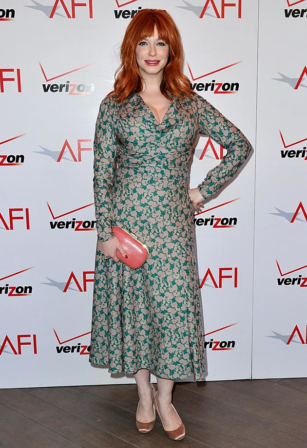 Christina Hendricks Floral Dress
