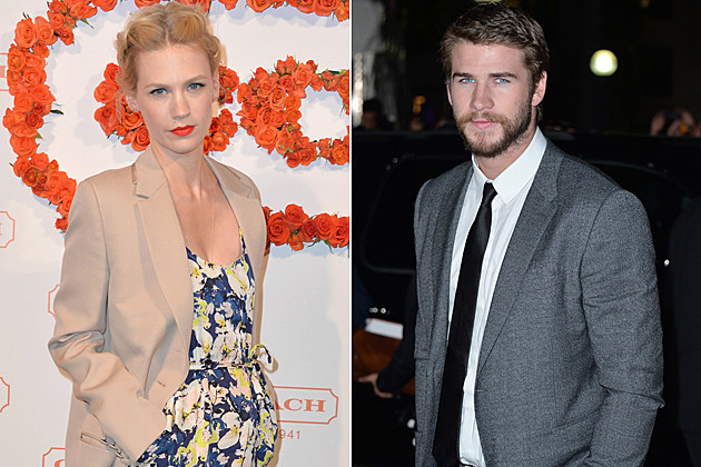 January Jones Liam Hemsworth