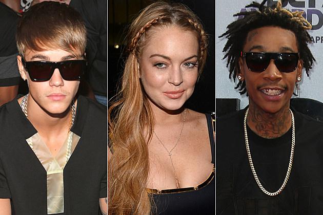 Justin Bieber Lindsay Lohan Wiz Khalifa