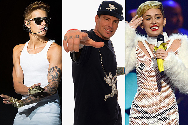 Justin Bieber Vanilla Ice Miley Cyrus