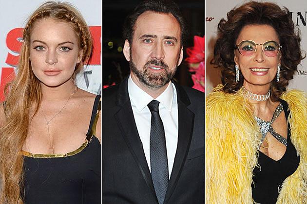 Lindsay Lohan Nic Cage Sophia Loren