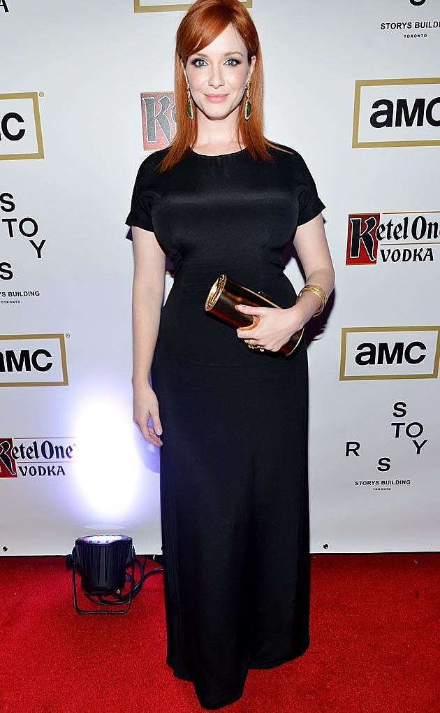 Christina Hendricks Ports 1961Black Dress