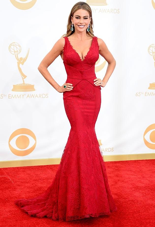Sofia Vergara 2013 Emmys Vera Wang
