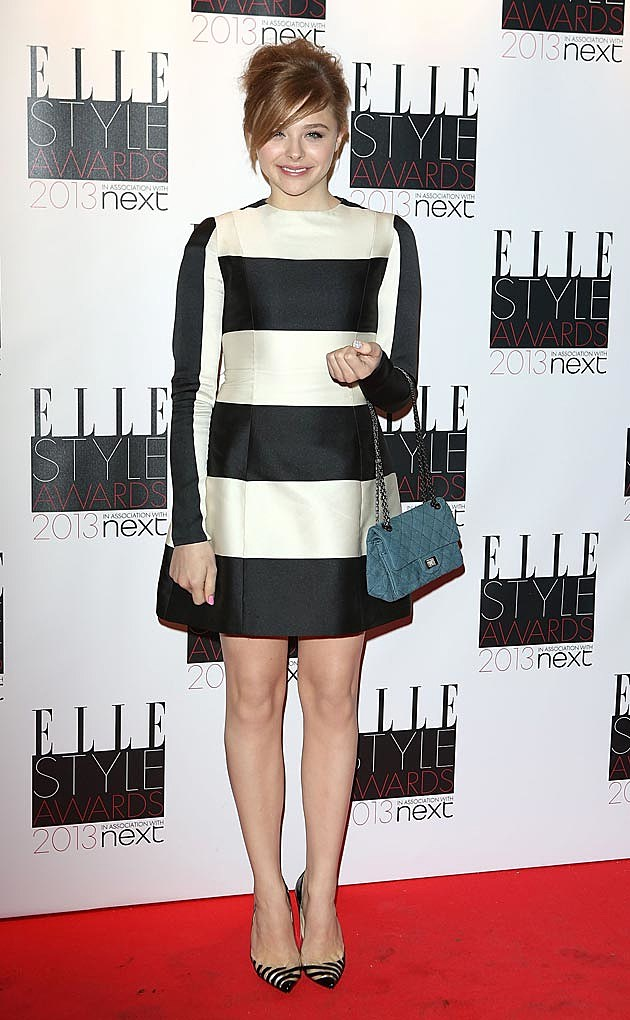 Chloe Grace Moretz Striped Stella McCartney