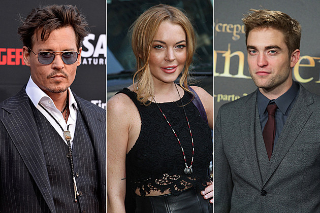 Johnny Depp Lindsay Lohan Robert Pattinson